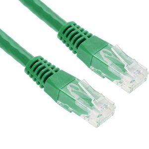 CÂBLE RÉSEAU  5m Vert Câble Ethernet Cat6 RJ45 LAN Patch Cord In