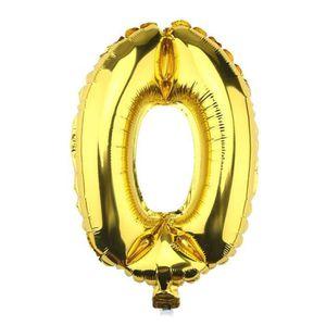 BALLON DÉCORATIF  Ballon hélium géant 80 cm chiffre 0 or