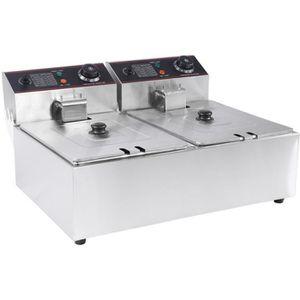FRITEUSE ELECTRIQUE 12L Friteuse électrique pro Machine à Frite poules