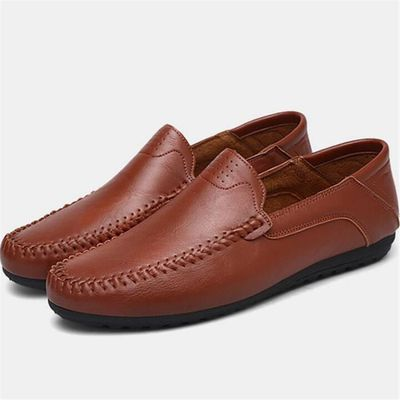 Moccasin homme en cuir Nouvelle Mode 2017 marque de luxe chaussure chaussures hommes Respirant Grande Taille 44 dBFulS