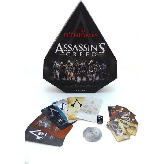 MARABOUT Boîte de jeu d'énigmes Assassin's Creed - Dimensions (LxHxEpaisseur) : 360 x 300 x 84 mmJEU DE SOCIETE - JEU DE PLATEAU