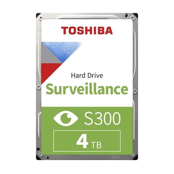TOSHIBA - Disque dur Interne - S300 - 4To - 7 200 tr/min - 3.5