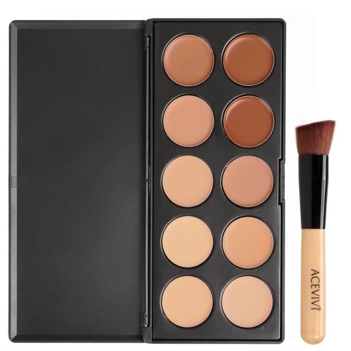 PALETTE DE MAQUILLAGE  10 couleurs maquillage visage crème anticernes Pal