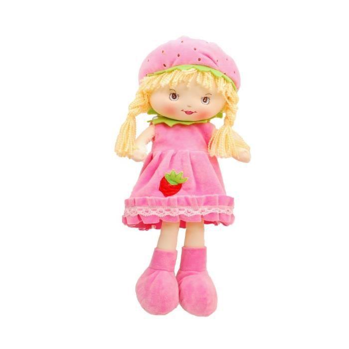 Linzy Livy Rag Doll With Strawbery Dress, Pink 17