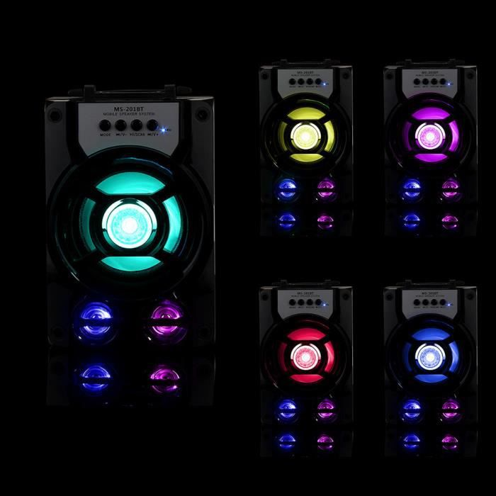 Extérieur Sans Fil Bluetooth Haut-parleur Portable Super Bass Avec Radio Usb - Tf Aux Fm @btzy3100