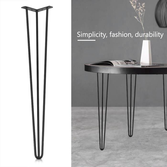 4 Pcs 28 Pieds De Table Noir Fer Accessoires Pour Meubles Bricolage