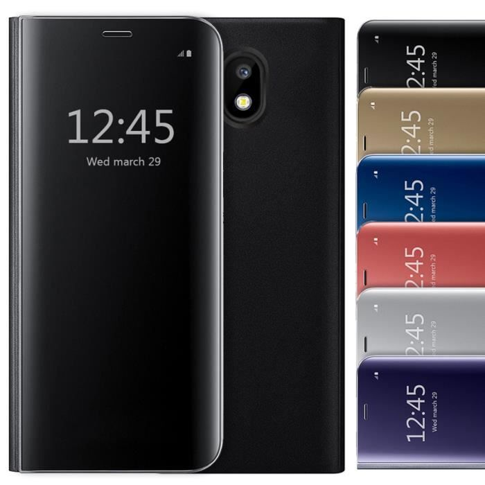 info for b19a4 fe7b6 Coque Samsung galaxy J5 2017 (Eur Version) Etui à rabat Clear View  Cover-Noir
