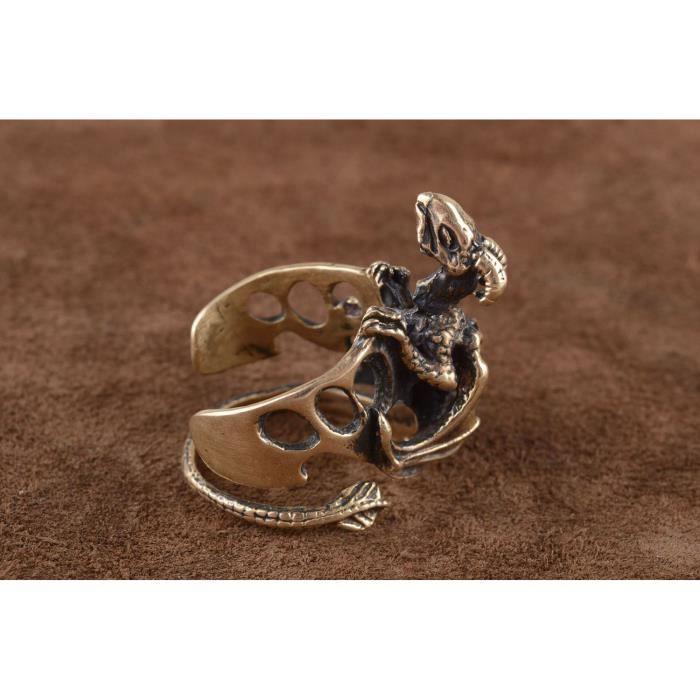 fd3deadb76c81 Bague bronze insolite Bijou fait main dragon Cadeau pour homme original  -851049253