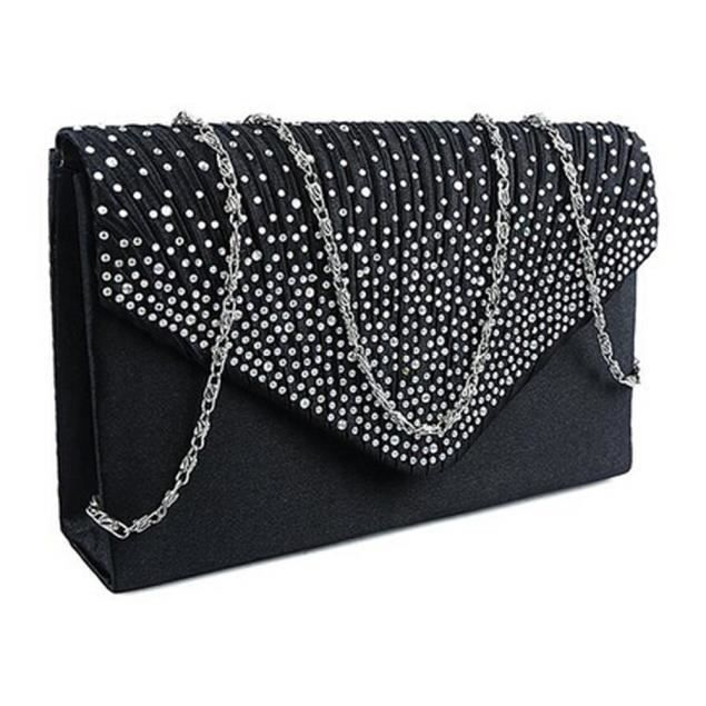 YNZ09147114@Sac Enveloppe dames Grand soirée Diamante dames d'embrayage Party Sac élégant populaire Loisirs Créatif Noir®Estimetown