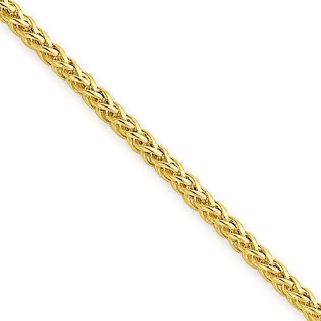 Collier de chaîne de blé 14 carats-- 20 cm