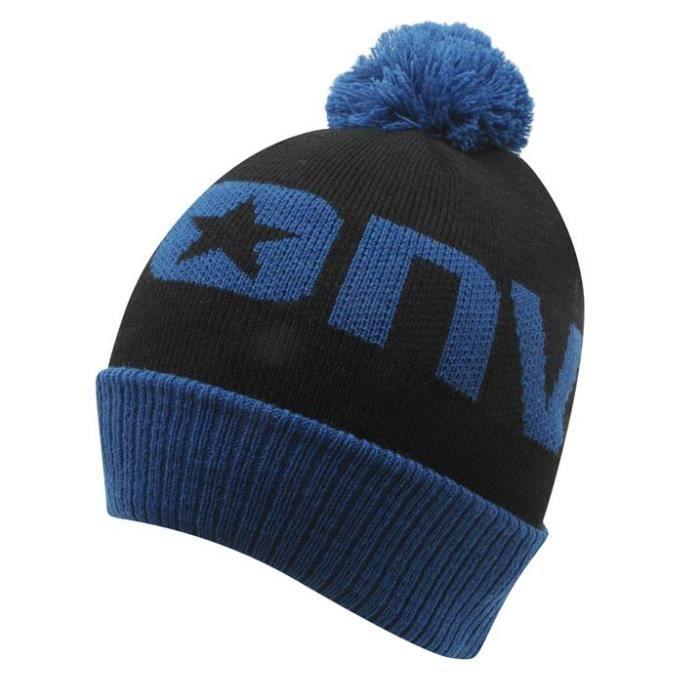 Bonnet A Pompon Junior Garcon Converse Noir et Bleu - Achat   Vente ... b2dd63f3b06