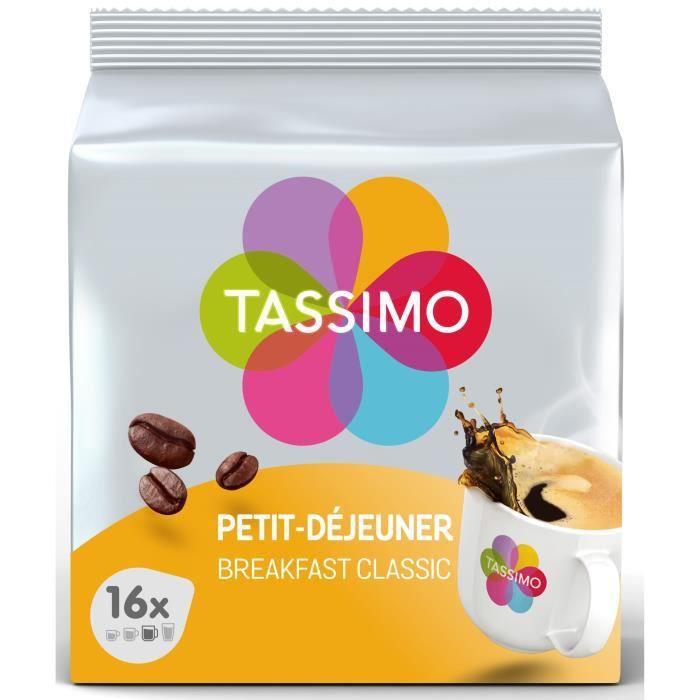 CAFÉ - CHICORÉE TASSIMO Café petit déjeuner classique - 16 dosette