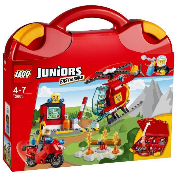 lego juniors 10685 la valise des pompiers 113 pi ces achat vente assemblage construction. Black Bedroom Furniture Sets. Home Design Ideas
