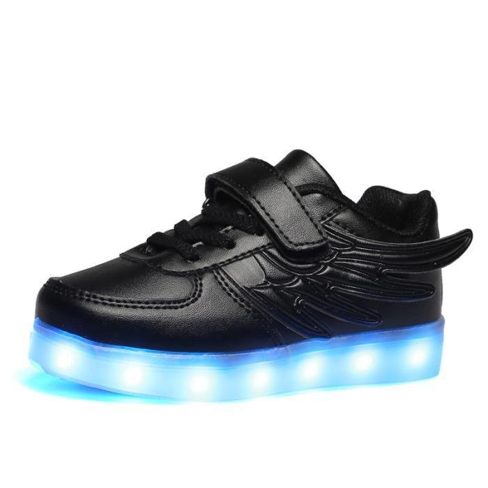 Chaussures 7 Couleur Unisexe garçons et filles enfants USB Charge LED Lumière Lumineux Clignotants Chaussures de Sports Baskets