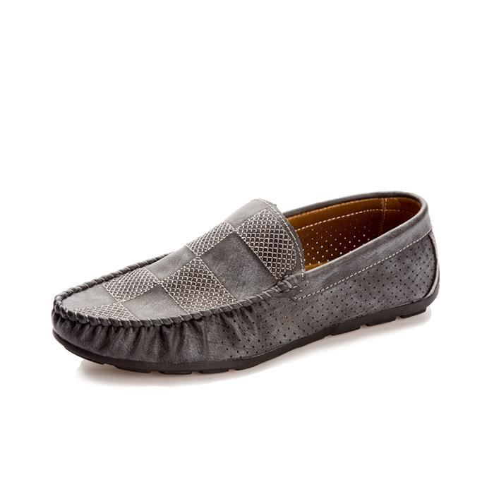 Casual Mocassins Homme cuir Chaussure Driving Chaussure chaussures Pois G6SEB