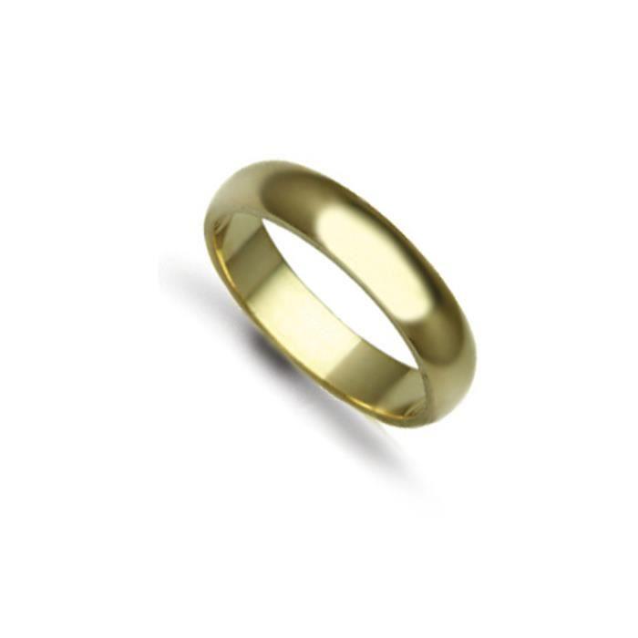 Jewelco Londres anneau de mariage d-forme 18K 4mm or jaune à la main