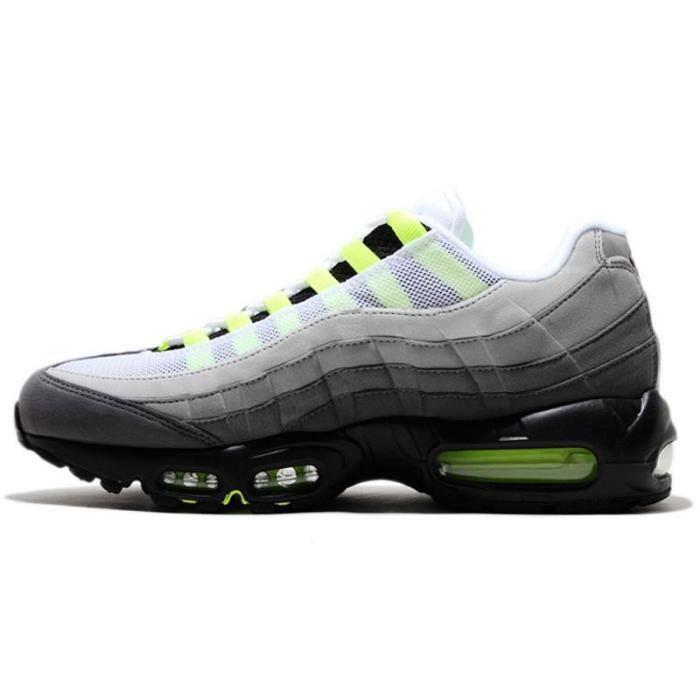 sports shoes 018f2 5b78e Basket Nike Air Max 95 OG Homme Chaussures Entraînement 554970-071 Noir Cendre  moyen Etain fonce