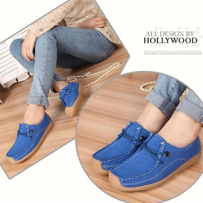 Rétro Antidérapant Chaussure Elégant Classique Loisirs Unie 40 Léger Sneakers Femme Super Bleu Couleur Sneaker wfYq0x