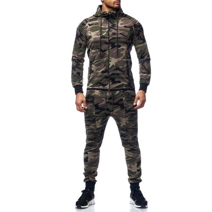 840902fa587 Survêtement stylé homme camouflage kaki Violento Vert Vert - Achat ...