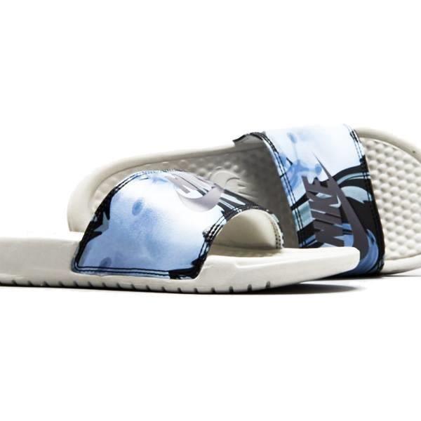 3791cbfa50fa Sandale Nike BENASSI JDI PRINT BLEU/BLANC - Achat / Vente chausson ...