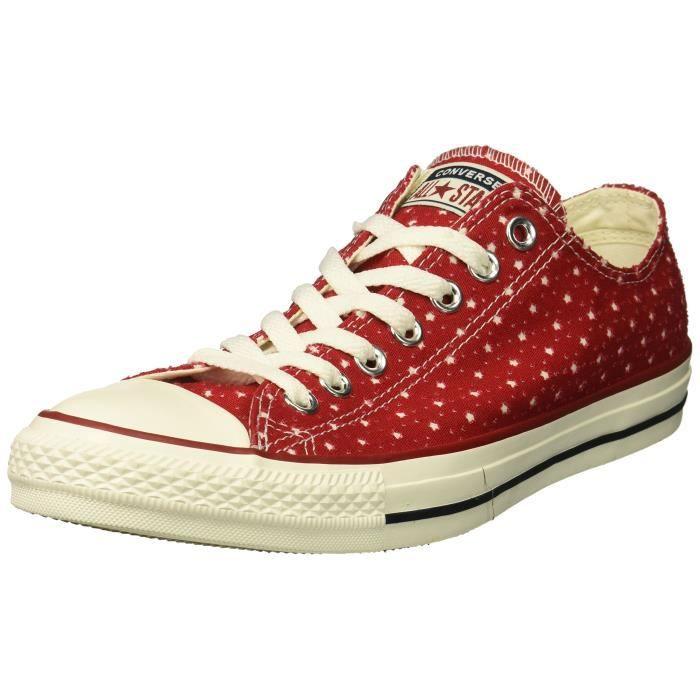 d68dd05728804 Converse baskets basses pour hommes QRPN4 Taille-35 Rouge Rouge ...
