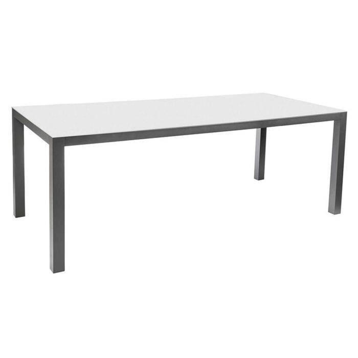 Yanis table de jardin métal et verre extensible | Spa amiens sonails