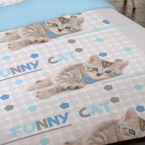housse de couette chat achat vente housse de couette chat pas cher soldes d s le 10. Black Bedroom Furniture Sets. Home Design Ideas