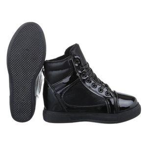 Femmes Bottine en fausse fourrure décoration chaleureuse Buckled Chaussures à talon épais 9378474 NA5BfcDIDT
