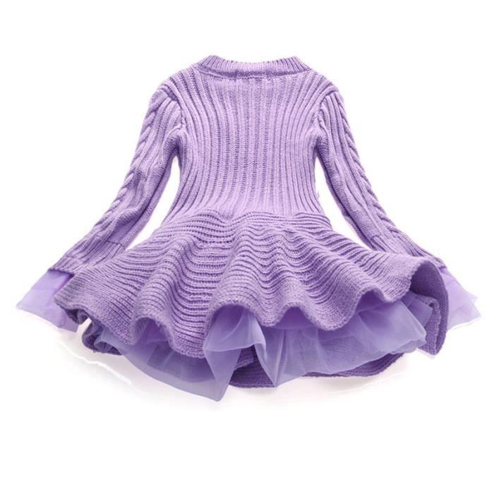 Robe Fille en Coton Mode Fille Mi saison Pour Fille 4-10 ans