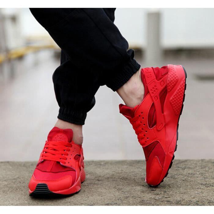 chaussures des respirant hommes sont les chaussures occasionnels mesh course de chaussures de de rouges sport xE0qYTwT