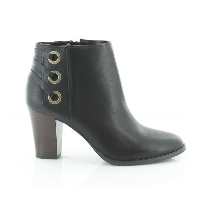 Inc International Concepts Jesaa bout rond synthétique noir Bottines MU2YP Taille-41 1-2