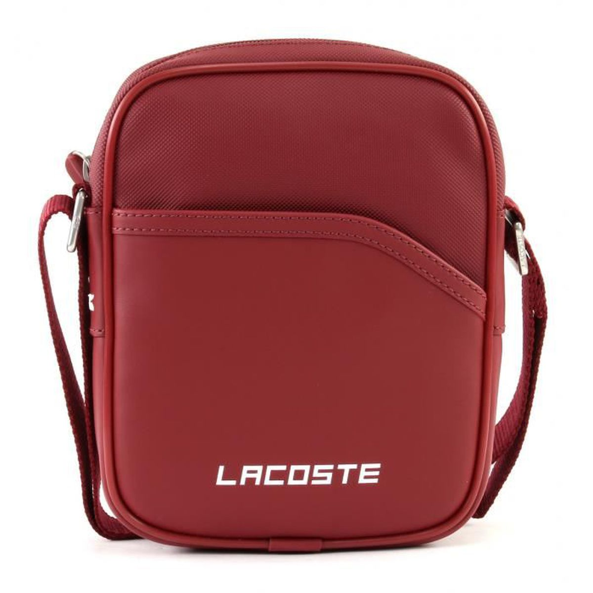 e613f6dfd3b Lacoste Sacoche Homme Rouge Rouge BIKING RED - Achat   Vente sacoche ...