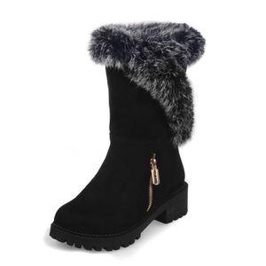 BOTTINE Femme Hiver Neige Cheville Boots Chaudes qualité s