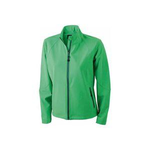 Veste softshell femme vert