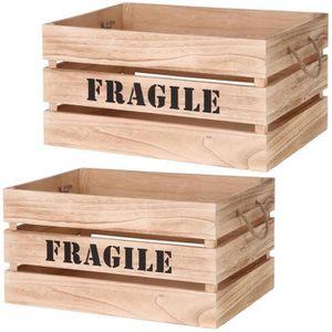 grande caisse en bois achat vente pas cher. Black Bedroom Furniture Sets. Home Design Ideas