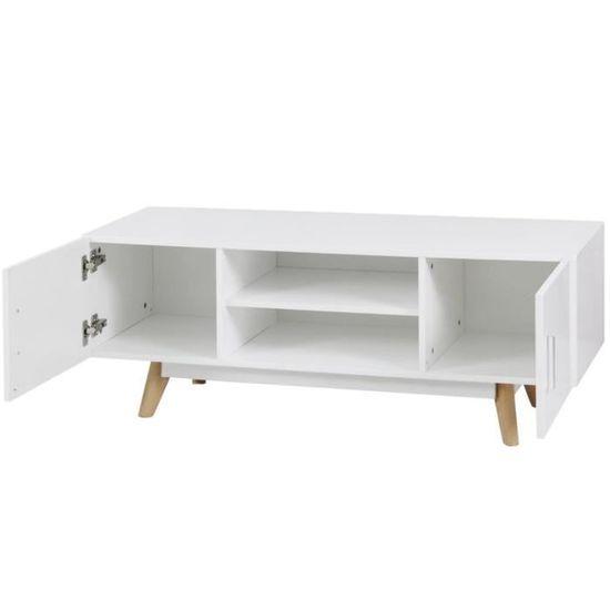 magnifique vidaxl meuble tv 120 x 40 x 46 cm blanc mdf achat vente meuble tv magnifique vidaxl meuble tv cdiscount