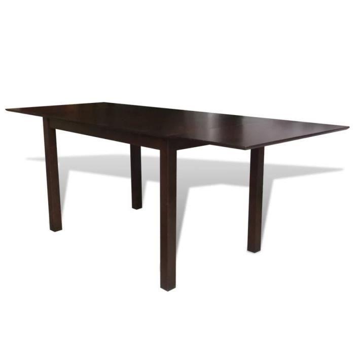 P98 Table De Salle A Manger Extensible Bois D Hevea Marron 190 Cm
