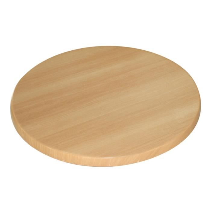 Plateau de table rond de 60 cm assortir coloris h tre achat vente plat de service soldes - Plateau rond pour table castorama ...
