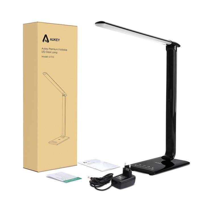 Contrôle Lampe Tactile Led De 12w Aukey Avec Usb Bureau Pliable Port 34qRjc5LAS