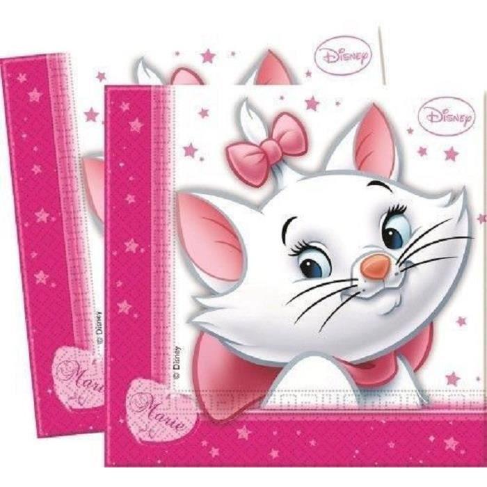 Disney marie serviettes de table jetables lot de 20 pieces achat vente couverts jetables - Serviette de table jetable ...
