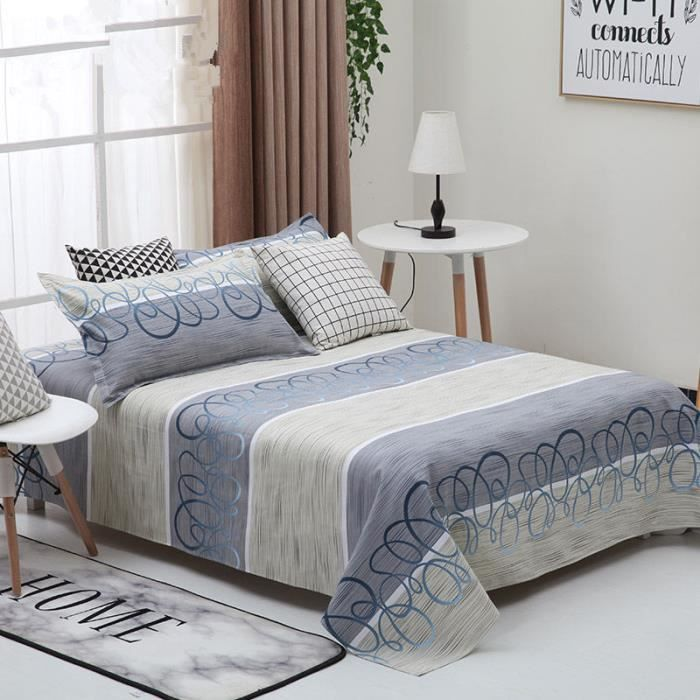 Ensemble dessus de lit matelass avec ses le couvre lit cotton quilted bedspread 200cm 230cm - Dessus de lit matelasse descamps ...