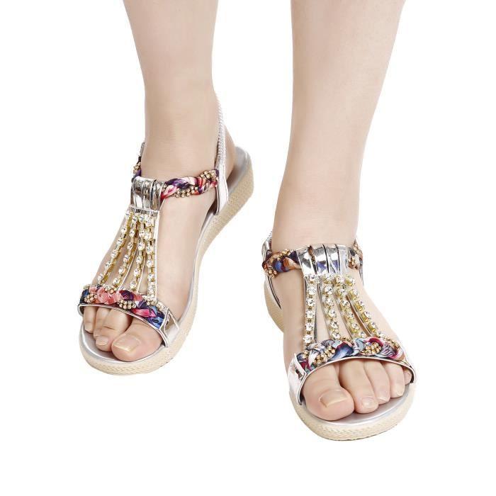 Sandales à talons en forme de strass style
