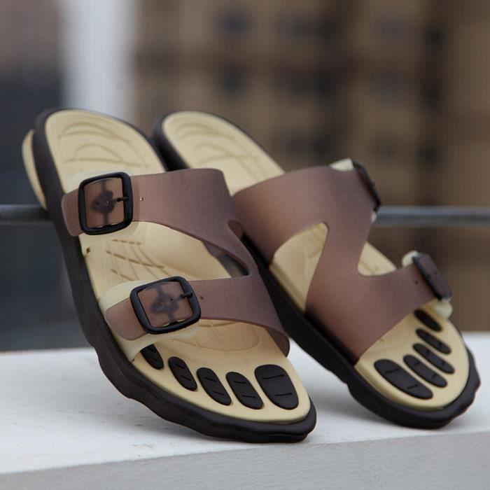 Nouveaux Arrvial Mode antiusure Sandales pour homme Plus Size Plage Chaussons rpvFhgz