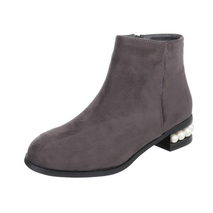 Bottine élégante| Demi-bottes | Metallic bottes | talon bloc bottes | Chaussures femme Bottines | Look cuir Booties | Stylemeile |