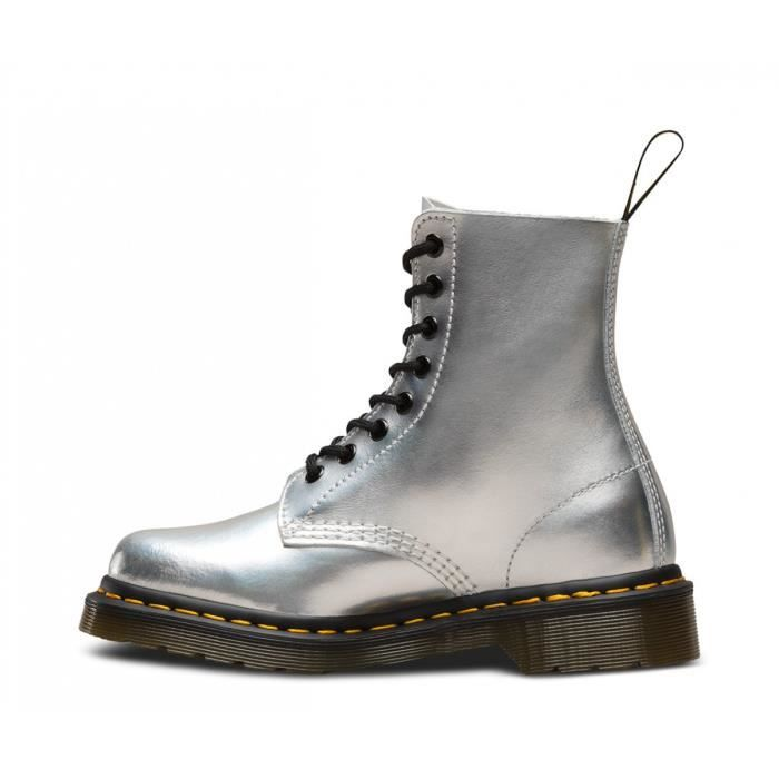 0f146711b980 Boots Dr Martens Pascal Iced Metallic - 23551073 Gris Argent - Achat ...