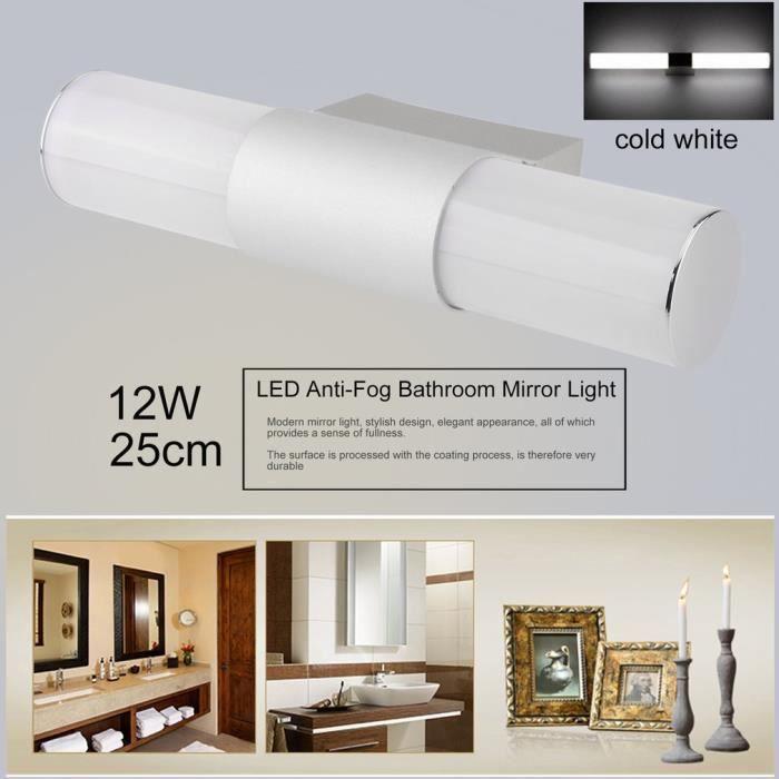 Applique Murale 12w 25cm Lampe De Salle De Bain Lumière Pour Tableau