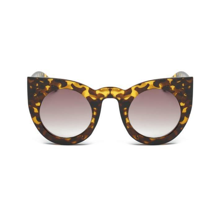 de lunettes mode lunettes Aviator soleil miroircouleur rétro Leopard unisexe hommes lentille Vintage de Femmes qXxZwztXF