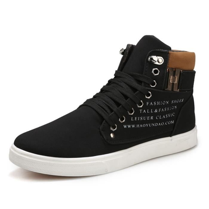 OLALI® Chaude Automne Chaussures En Cuir Pour Homme High Top Casual Bottes NRCmbiMgL