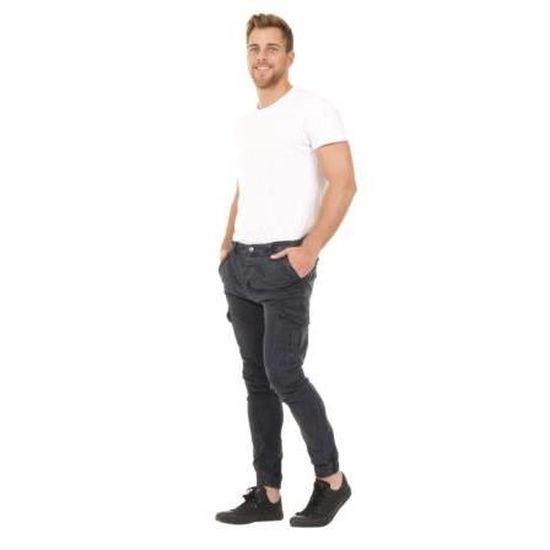 homme marine multiples pantalon slim poches cargo bleu fit. Black Bedroom Furniture Sets. Home Design Ideas