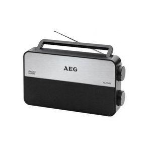 AEG TR 4152 Radio Portable 3 Bandes Fm/Am/Lw - Antenne Télescopique + Entrée Aux Pour MP3